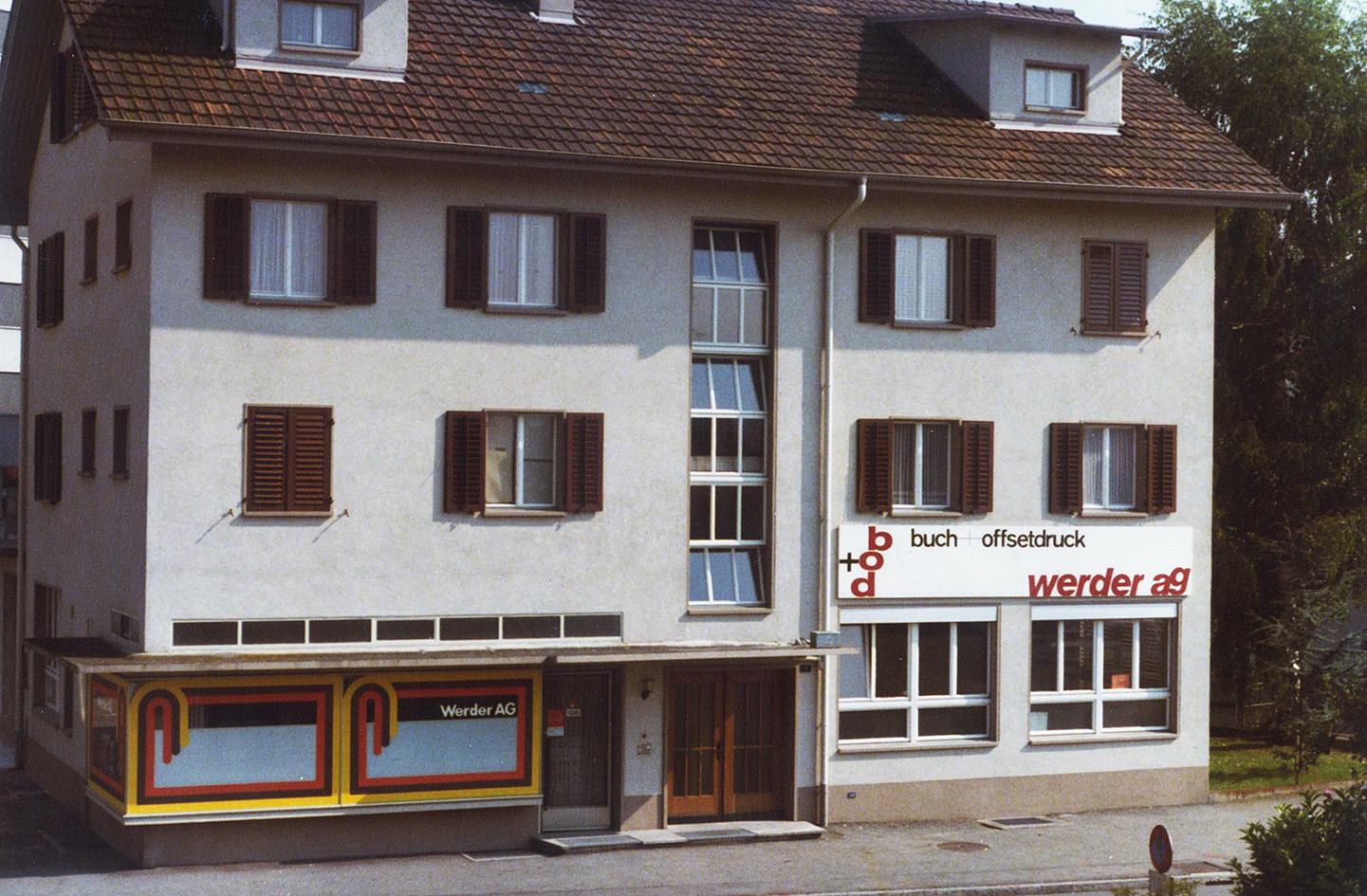 1977 altes Firmengebäude Weibel Druck
