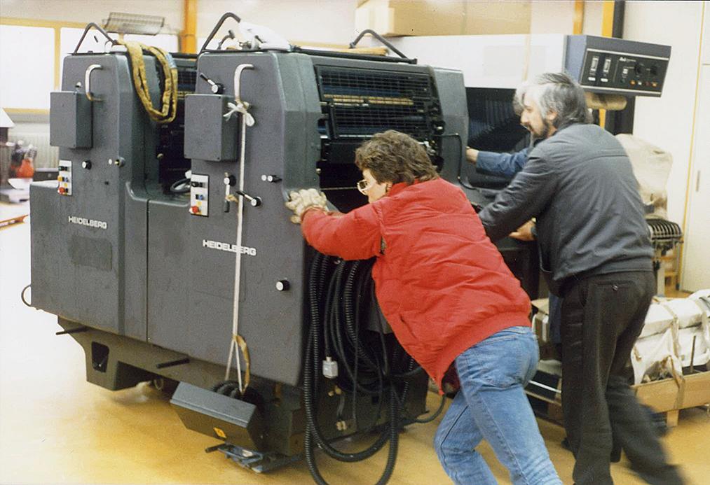 1987 4-farben Druckmaschine Aufbau