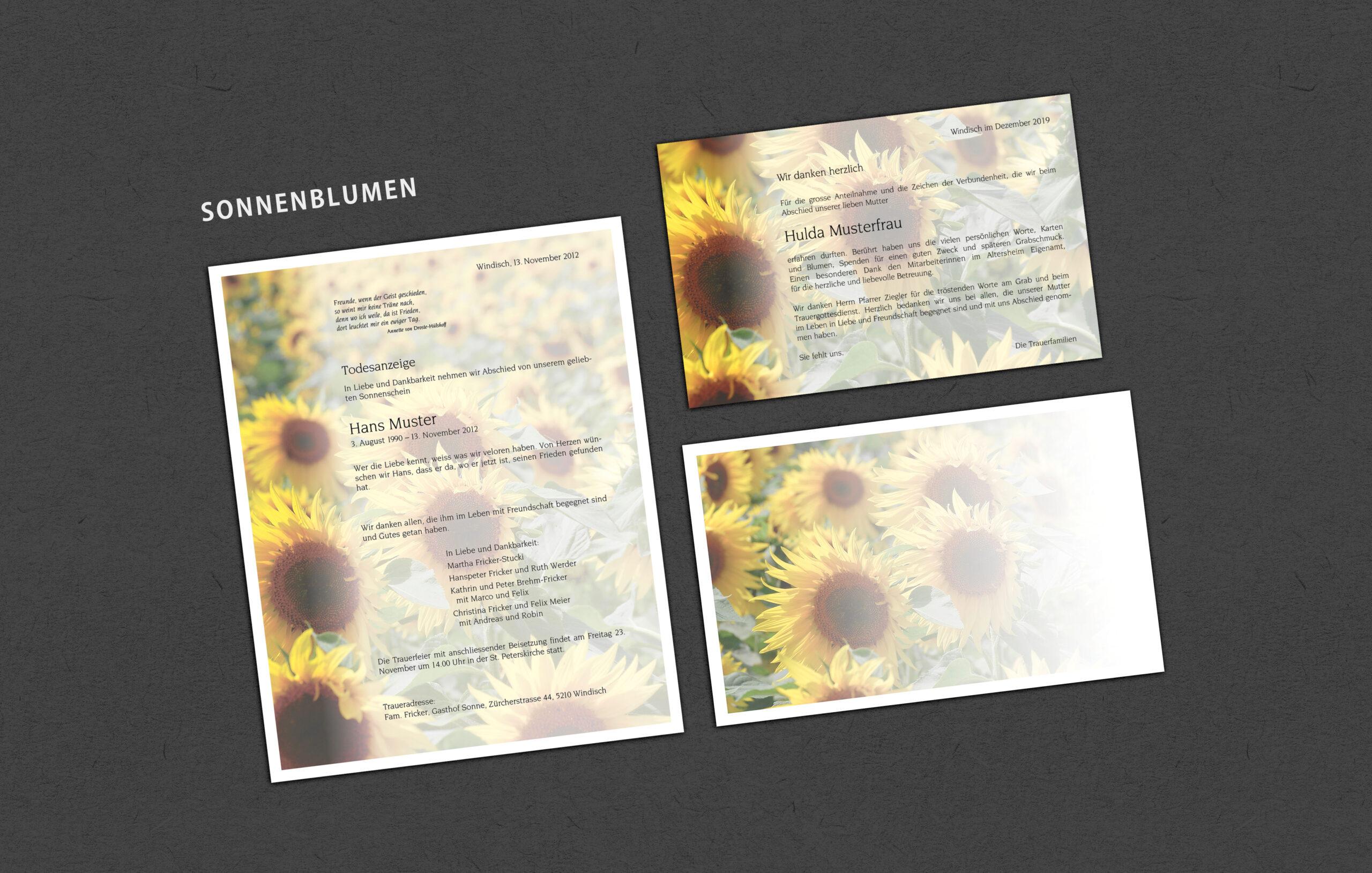 Muster_Sujet Sonnenblumen
